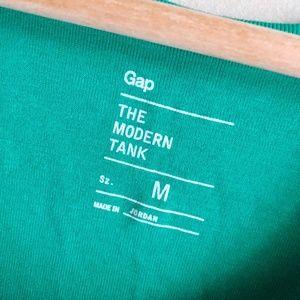 GAP Tops - Gap Modern Tank Green White Two Top Bundle Size M